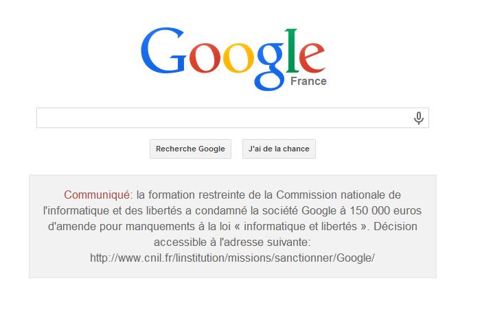 google-condamnation